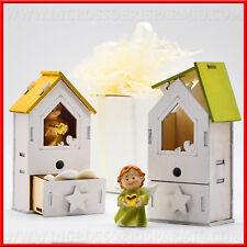 Casetta/temperino portaconfetti  angioletti per bimbo/a battesimo,1°compleanno