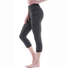 Women Sports Leggings  Yoga Pants Push Up Scrunch Gym Fitness Capri Activewear