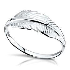 MATERIA Damen Ringe Silber 925 Feder Blatt Natur Silberring 51 54 57 59 in Etui
