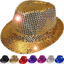 Cappello Spettacolo PAIETTES ORO dorato ballo teatro paiette giallo ENTRA D0261
