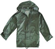 100% WATERPROOF WINDPROOF JACKET Mens S-3XL zip up hooded kagool olive green