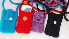 EL BURRO Damentasche Handytasche Filztasche Schultertasche schwarz blau rot lila