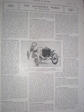 Printed photo Shamrock 12-14 hp motor racing car 1908