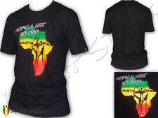 Camiseta Tee Shirt Rasta Power Fist Africa Must Be Free by Jah Star Wear