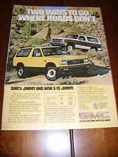 1983 GMC JIMMY / BLAZER  ***ORIGINAL AD***