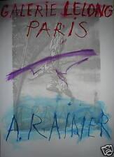Rainer Arnulf Affiche en lithographie art abstrait  la tour eiffel abstraction