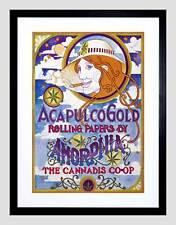 AD ACAPULCO GOLD Rolling Papers amorphia Cannabis ANNI SESSANTA ART PRINT b12x2983