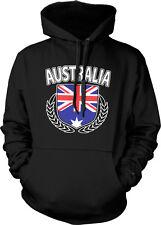 Australian Flag Shield Olive Branches Aussie Pride Hoodie Pullover