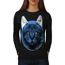 Drugs Face Sublime Cat Women Long Sleeve T-shirt NEW | Wellcoda
