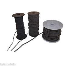 Bungee Cord ,Gummiseil , PE Expanderseil  Ø 3mm,4mm.5mm.6mm ,8mm- schwarz,lfd m