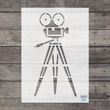 Vintage Retro Proyector De Cine Stencil Pared Arte Arte plantilla crear cortes