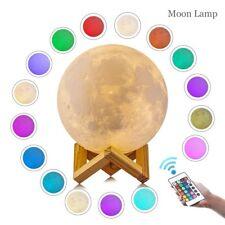 Dimmable 3D Moon Lamp USB LED RGB Night Light Desk Moonlight Touch Sensor Gift