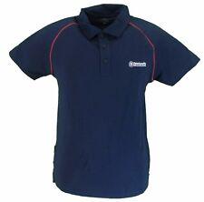 Lambretta Azul Marino/Rojo RIBETEADO 100% Camisa pólo de algodón