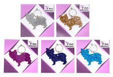 Glitter acrylic Yorkshire Terrier keyring/bag charm - 9 colour choices.