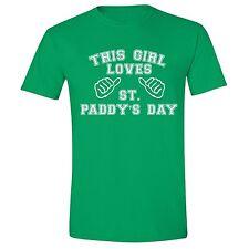 St Patrick Day shirt Shamrock Girl Paddy Irish Unisex Men T-Shirt Green Tee 10