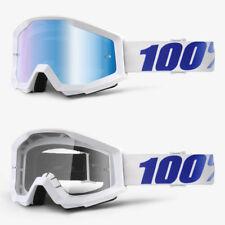 2018 100% Por Cien ESTRATOS MOTOCROSS MX Gafas Equinox AZUL ESPEJO / Lente Claro
