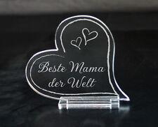 Herz Acryl Gravur Beste Mama Oma Opa Papa der Welt Geschenk Muttertag