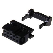 Pfosten-Verbinder RM2,54 Stecker Buchse Wanne Print Schneidklemm Flachbandkabel