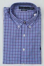 Ralph Lauren Blue Pink Custom Dress Shirt Navy Pony NWT