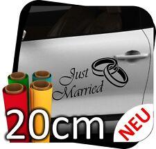 20cm Just Married Hochzeit Heiraten Ringe Autoaufkleber Aufkleber Sticker No.7