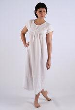 Linda Ladies Swiss Cotton Nightgown/Sleepwear/Nightie with Chain Embroided Yoke