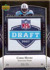 2007 UD Premier Stitchings  Chris Henry  #10/75 Titans