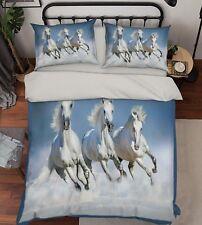 3D Sea Horses 25 Bed Pillowcases Quilt Duvet Cover Set Single Queen King Size AU