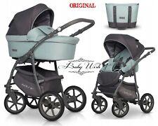 Riko carrozzina Pastello di base 3in1, 2in1 navicella + passeggino + seggiolino auto, extra GRATIS!