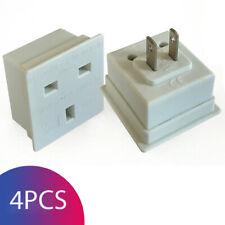 UK to US USA American Canada Travel Adapter Plug Converter Adaptor - Pack of 4