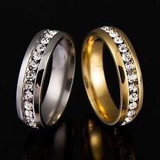 Edelstahl Ring mit Steinen sehr edel elegant stylisch cool gold oder silber
