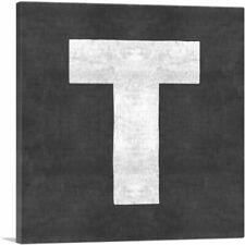 ARTCANVAS Chalkboard Alphabet Letter T Canvas Art Print
