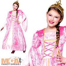 Royal Princess Rosanna Girls Fancy Dress Fairytale Kids Childrens Party Costume