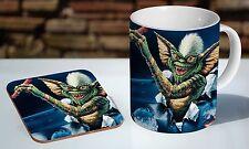 Gremlins Poster Colour Tea / Coffee Mug Coaster Gift Set