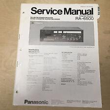 Original Panasonic Service Manual for RA Receiver Cassette/Receivers~ Choose One