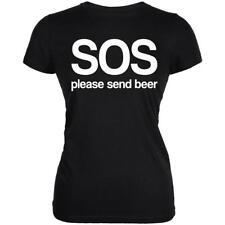 SOS Please Send Beer Juniors Soft T Shirt