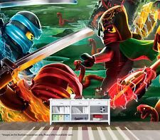 Lego Ninjago Movie Wall Mural Wall Art Quality Pastable Wallpaper Decal
