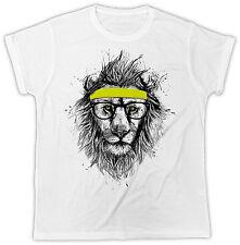 FUNNY LION SUNGLASSES  COOL RETRO BIRTHDAY PRESENT SLOGAN MENS T SHIRT
