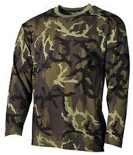 Czech Army Mens Camo Long Sleeve T-Shirt Tee Vz.95,M95 Camo Pattern - CZ Camo