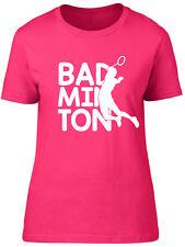 Badminton Womens Ladies Short Sleeve Tee T-Shirt