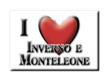 CALAMITA LOMBARDIA FRIDGE MAGNETE SOUVENIR I LOVE INVERNO E MONTELEONE (PV)