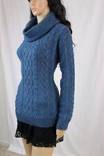 Ladies Ralph Lauren Blue Cable Knit Turtleneck Sweater  ~NWT~