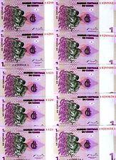 LOT, Congo D. R. 10 x 1 centime, 1997, P-80, UNC