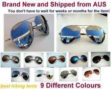 New Classic S/M Unisex Aviator Sun-Glasses Silver Mirror UV Polarized or No-Pola