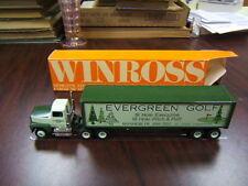 Winross Evergreen Golf Manheim PA tractor trailer Ford 9000 Dual Stacks VGC
