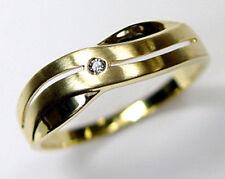 ECHT GOLD *** Zirkonia Ring matt-glänzend, Größenauswahl