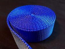 """1 inch Nylon Webbing - Blue strap 1 - 50 Yards ( 1"""" Heavy Nylon Royal Blue )"""