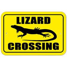 Plastic Sign Lizard Crossing