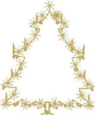 Aplicación etiquetas engomadas Invierno Decoración Oro árbol de Navidad 2 Tallas