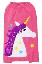 DogLife Fun, Brightly Coloured, Glitzy Unicorn & Stars Dog Sweater, Size S-XXL