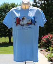 t-shirt patriotic American style Light Blue NWT